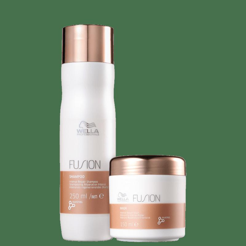Kit Shampoo 250ml + Máscara 150ml Fusion Wella Professionals