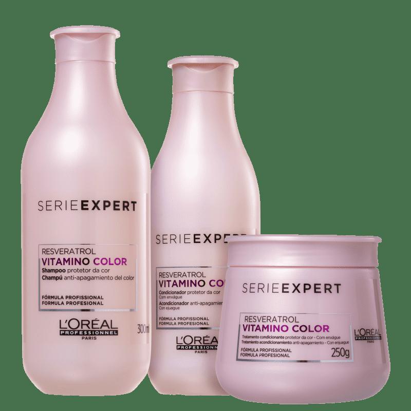 Kit Shampoo Condicionador e Máscara L'Oréal Vitamino Color