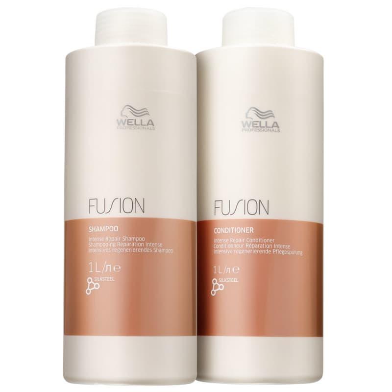 Kit Shampoo + Condicionador Fusion litro Salon Wella Professionals