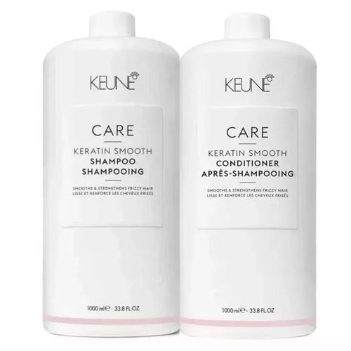 Kit Shampoo + Condicionador Keratin Smooth litro Keune