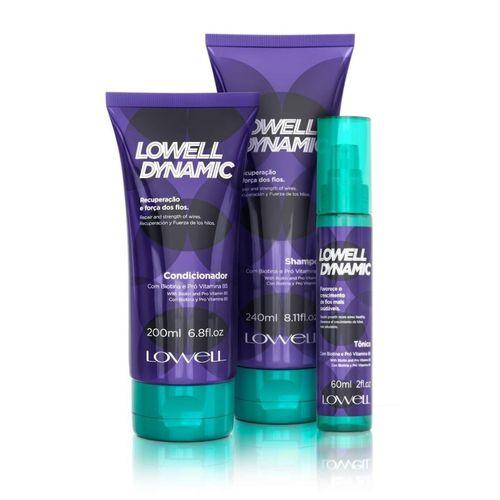 Kit Shampoo & Condicionador & Tônico Lowell Dynamic