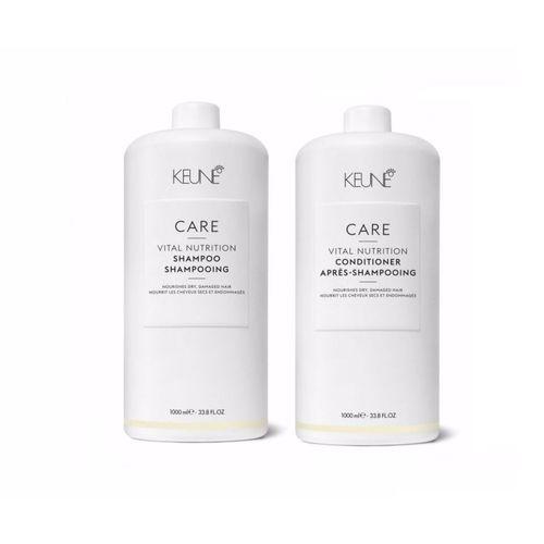 Kit Shampoo + Condicionador Vital Nutrition litro Keune