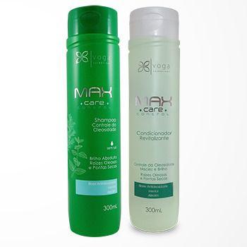 Kit Shampoo e Condicionador Controle da Oleosidade Max Care Control Voga Cosméticos