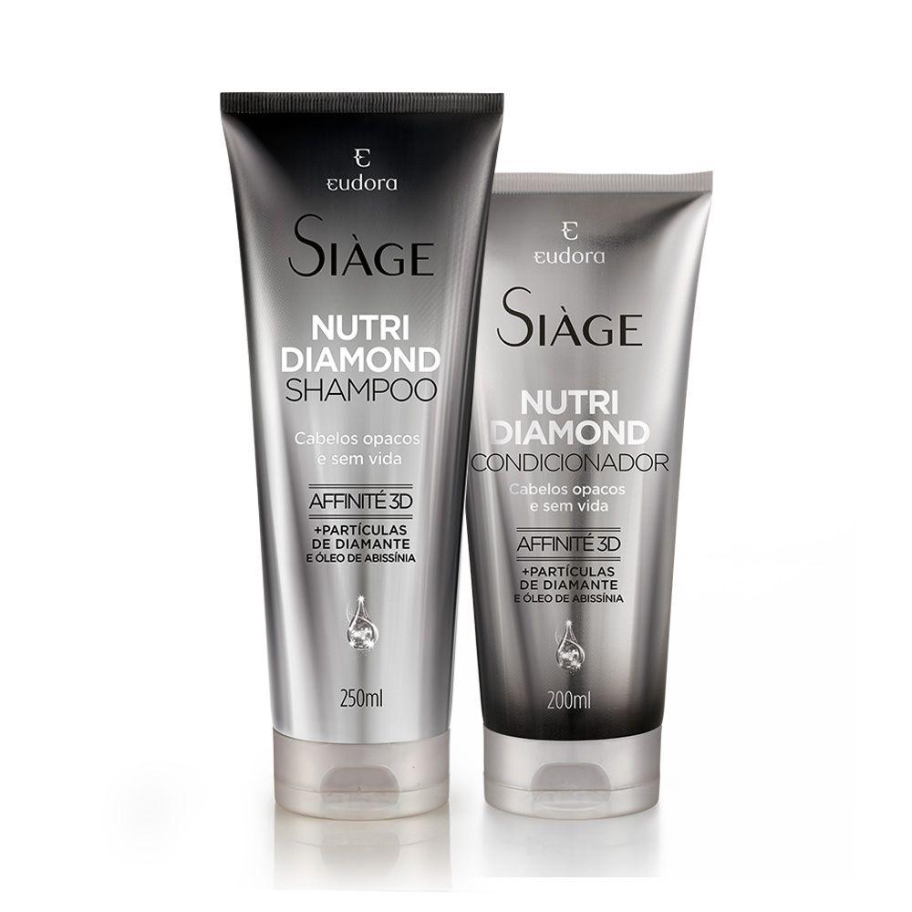 Kit Siàge Nutri Diamond Eudora: Shampoo + Condicionador