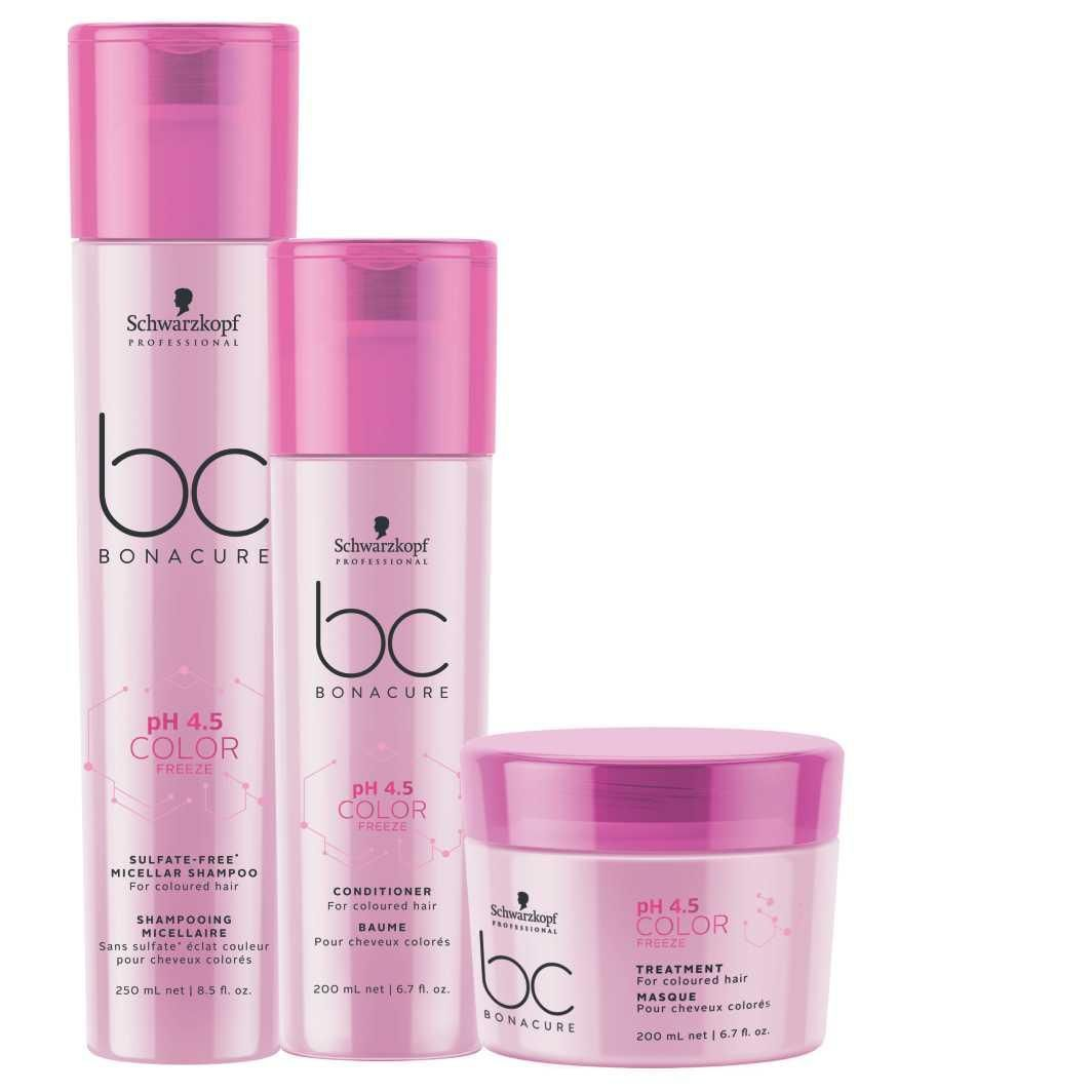 Kit Trio Schwarzkopf Professional BC Bonacure pH 4.5 Color Freeze Sulfate-Free Home Care
