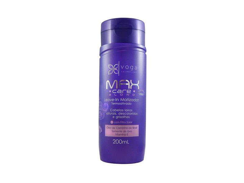 Leave-in Matizador Max Care Power Force Voga Cosméticos 200ml
