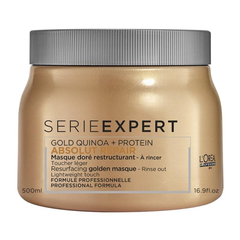 Máscara Capilar Absolut Repair Gold Quinoa + Protein Golden Lightweight L?Oréal Professionnel 500ml
