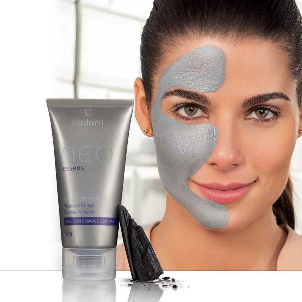 Máscara Facial de Carvão Ativado Neo Essens 50g  - Shine Shop Perfumes e Cosméticos