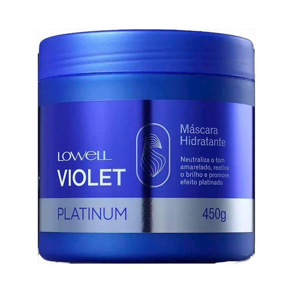 Máscara Matizadora Lowell Violet Platinum 450g