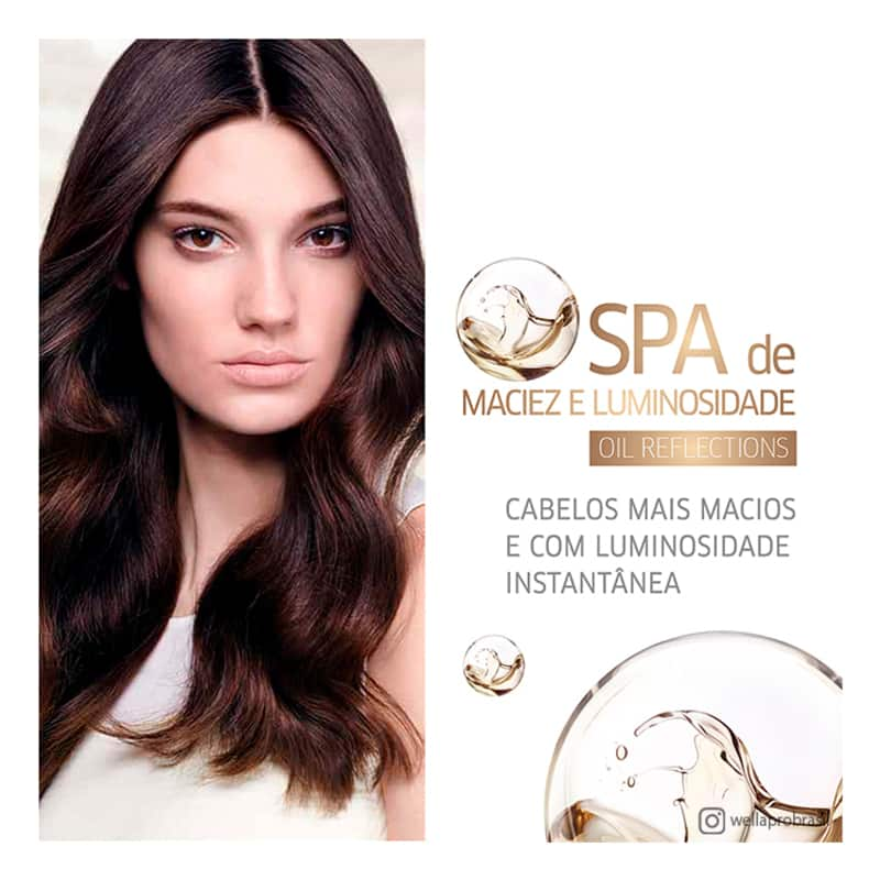 Máscara Oil Reflections Luminous Reboost Wella Professionals 500ml  - Shine Shop Perfumes e Cosméticos
