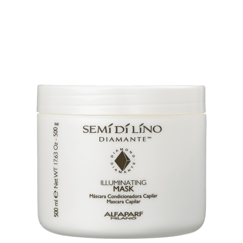 Máscara Semi di Lino Diamante Illuminating 500g Alfaparf