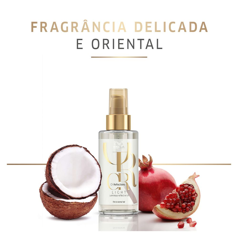 Óleo Capilar Oil Reflections Reflective Light Wella Professionals 100ml  - Shine Shop Perfumes e Cosméticos