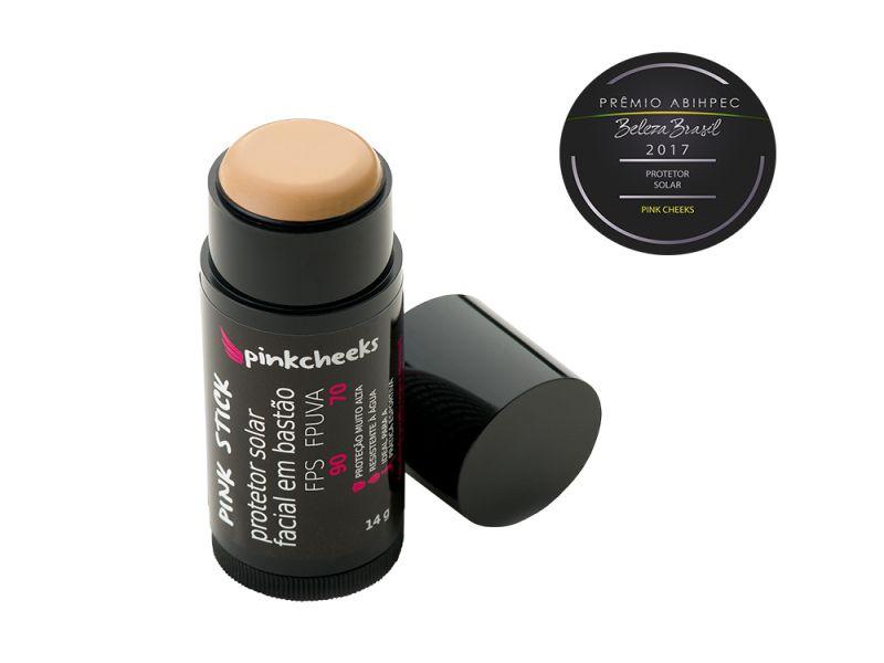 Pink Stick 21Km (B) Protetor Solar Facial Bege Médio (FPS 90 / FPUVA 70) 14g