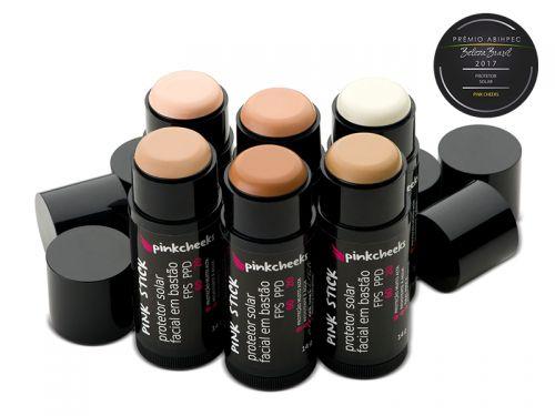 Pink Stick 21Km (B) Protetor Solar Facial Bege Médio (FPS 90 / FPUVA 70) 14g  - Shine Shop Perfumes e Cosméticos