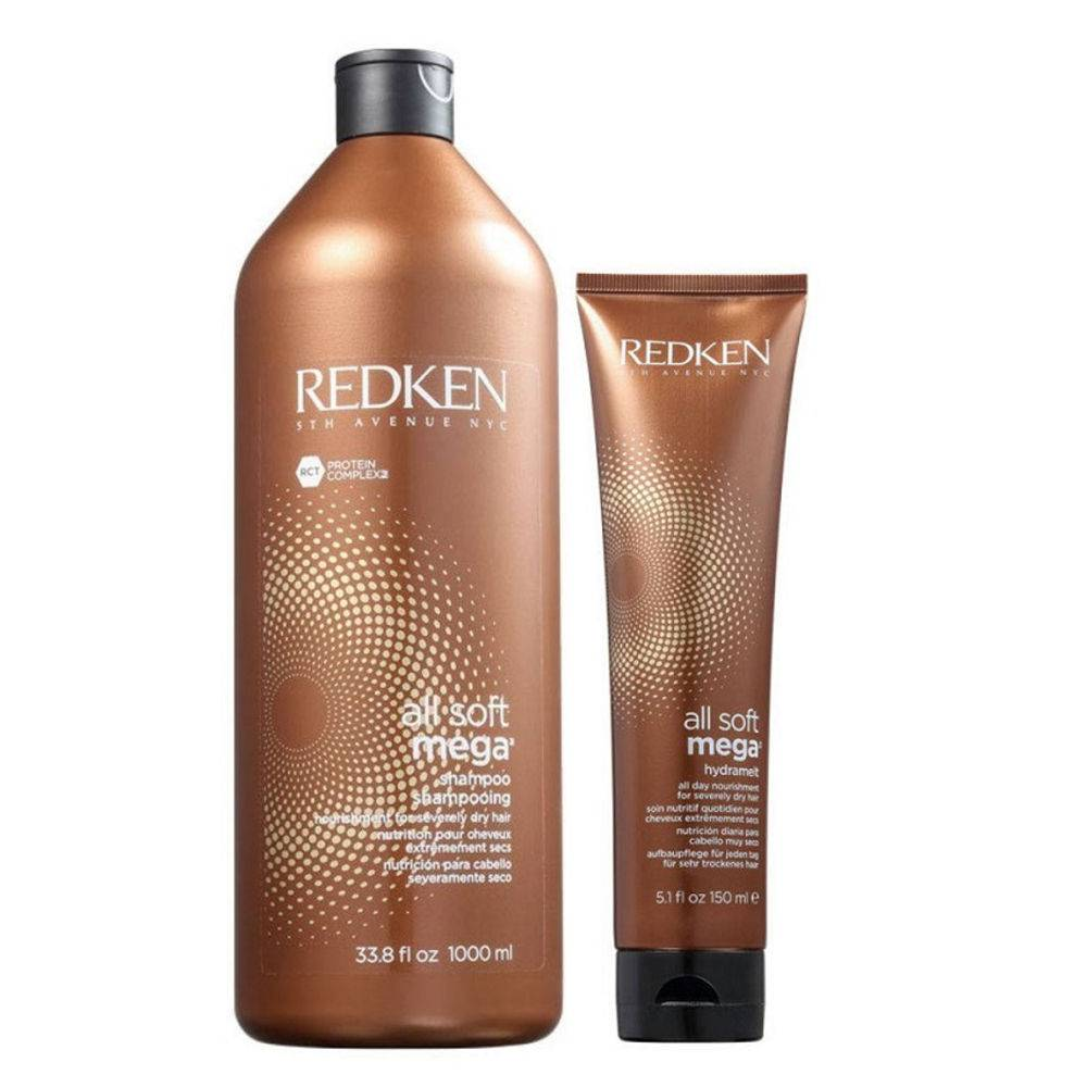Redken All Soft Mega Kit Shampoo 1 Litro E Hydramelt Leave-in 150 Ml