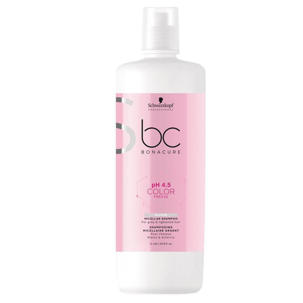 Schwarzkopf Professional BC Bonacure Color Freeze Silver - Shampoo Desamarelador 1000ml