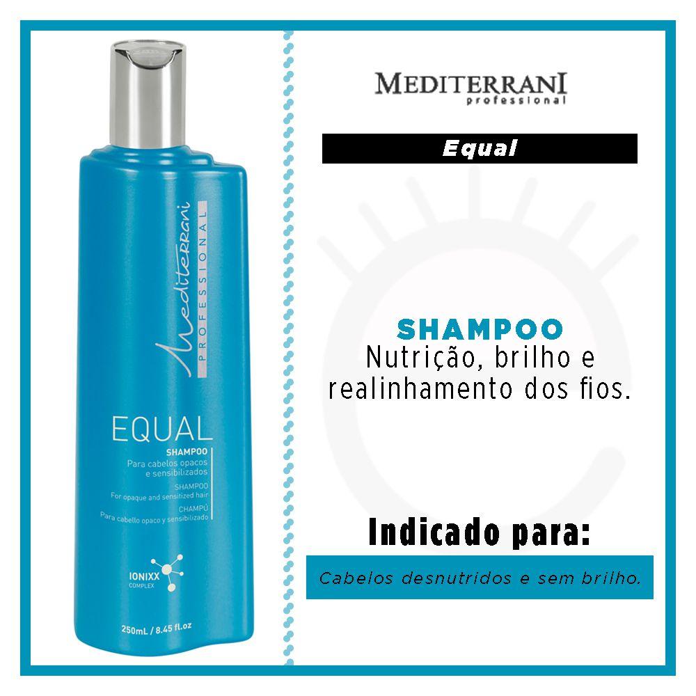 Shampoo Equal  Mediterrani 250ml  - Shine Shop Perfumes e Cosméticos
