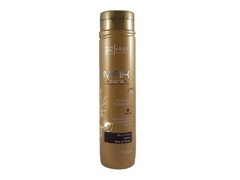Shampoo Fortificante Max Care Power Force Voga Cosméticos 300ml