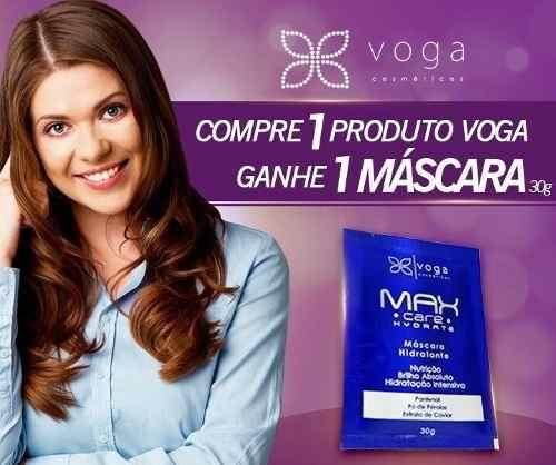 Shampoo Hidratante Max Care Hydrate Voga Cosméticos 300ml  - Shine Shop Perfumes e Cosméticos