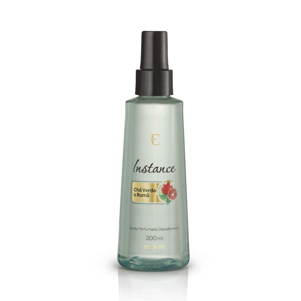 Spray Desodorante Perfumado Chá-Verde e Romã Instance Eudora 200ml