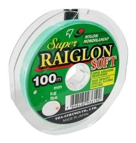 100m Linha Mono Super Raiglon Soft 0,33mm Marine Sports