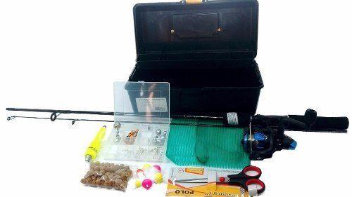 Kit Pesca Pescaria Completa Vara 1,50m Molinete Oferta e Itens