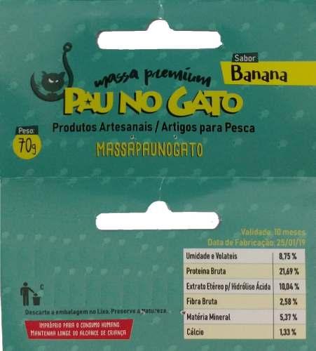 Massa Pesca 3kg E 6 Ração Furadinha Pau No Gato Banana Bacon