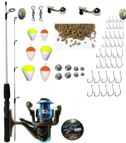 Kit De Pesca Completo 6kg 1 Vara 1,50m 1 Molinete E Itens