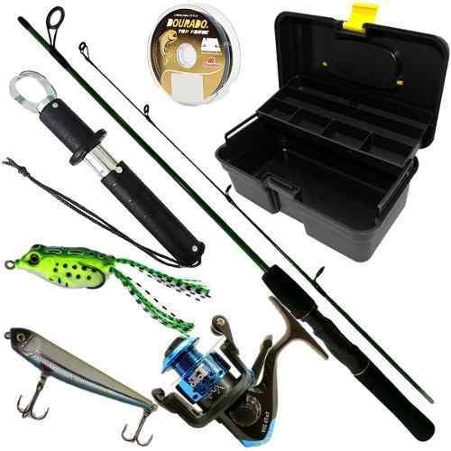 Kit De Pesca Predador Vara 170 Molinete 3000 Alicate Iscas