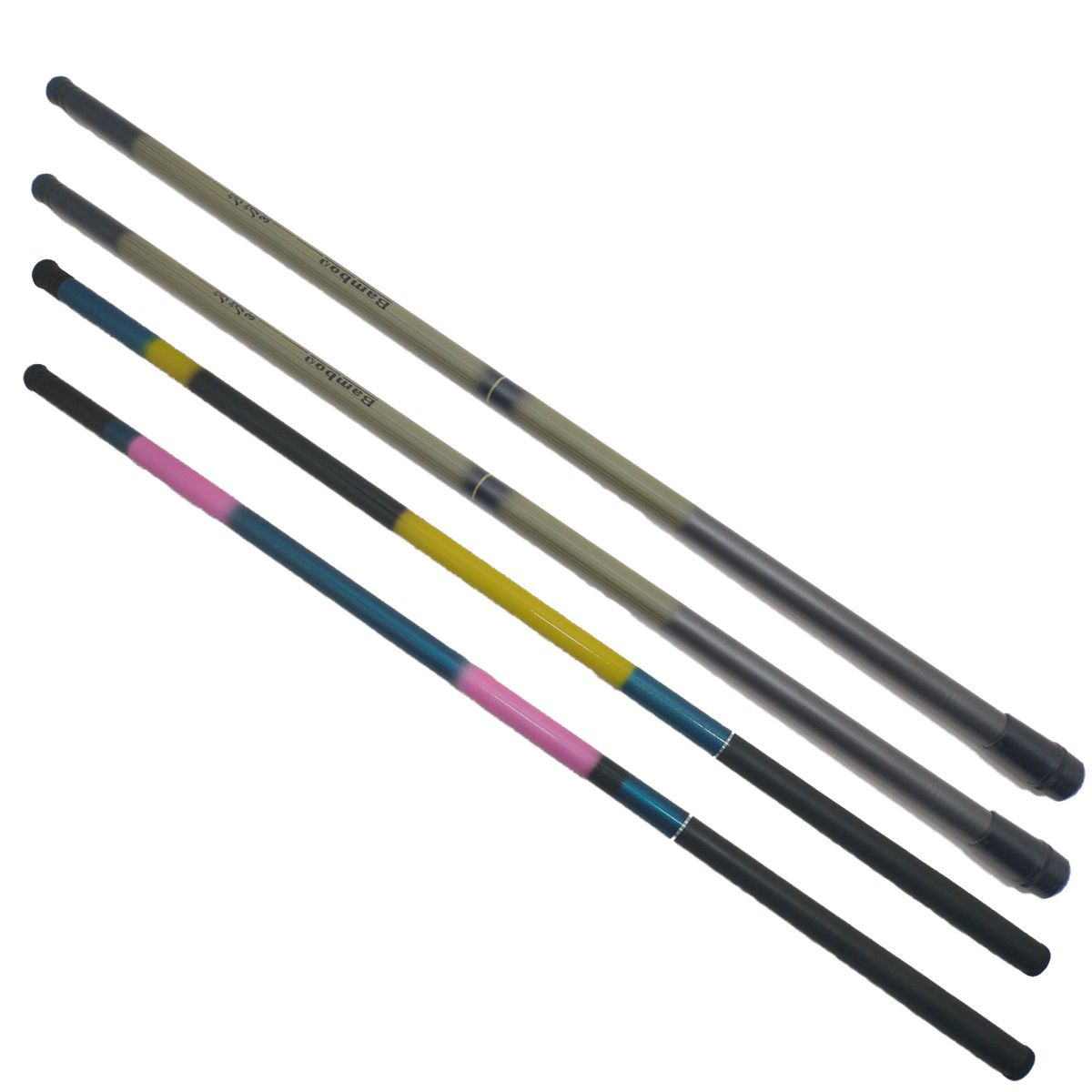 2 Vara De Mão Telescópica 3,30 E 2 De 3,60 Fibra Vidro