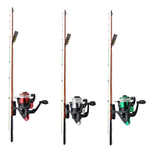 3 Vara De Pesca Completa 1,80m 5kg 3 Molinete Linha Corimba