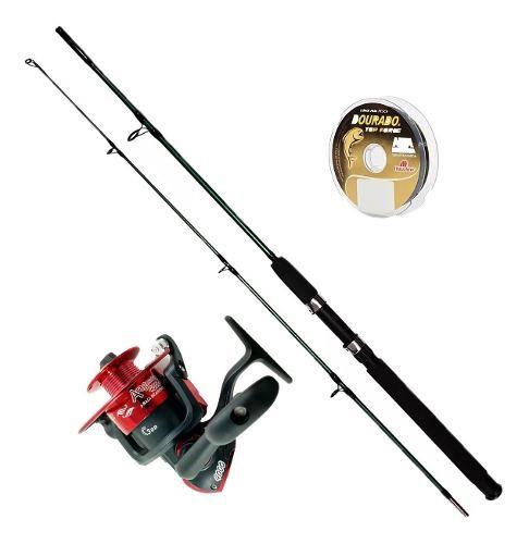 Vara De Pesca Completa 1,80m Molinete 3000 3 Rolamento Linha