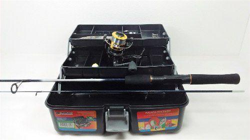 Kit Pesca Completo Vara 1,20m 6kg Molinete Maleta Barato