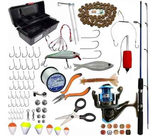 Kit Pesca Completo Vara 1,80 Molinete E Acessórios Pronto