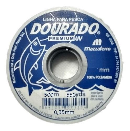 500m Linha De Pesca Monofilamento 0,35mm Nylon Mazzaferro