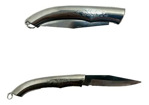 Canivete Em Metal Dobravel Pesca Camping Caça