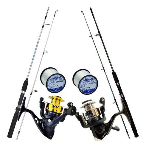 Conjunto De Pesca 1 Vara 1,70 1 Vara 1,80 2 Molinetes 1000