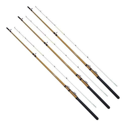 3 Vara de Pesca Tucuma C/ Passador 1,80mt 5-10lb 2 Partes