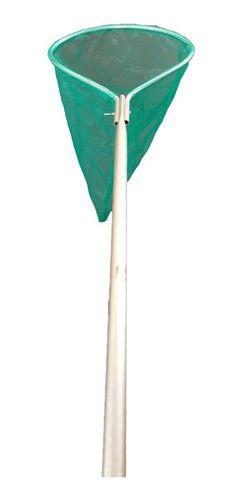 Passagua Para Pesca Camarao Aluminio Dobravel Nylon Verde