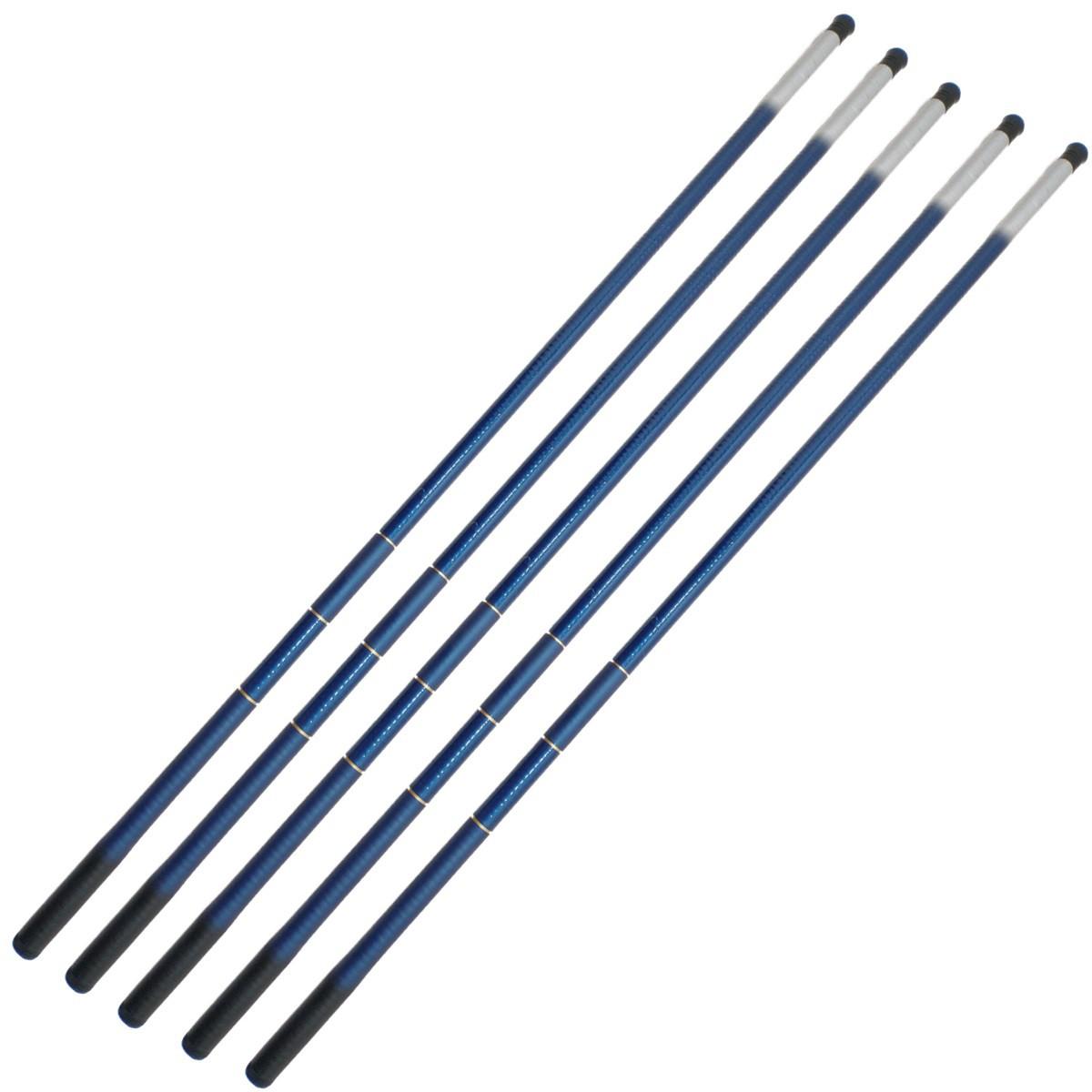 5 Varas De Mão Telescópica 2,40m 100% Fibra De Vidro
