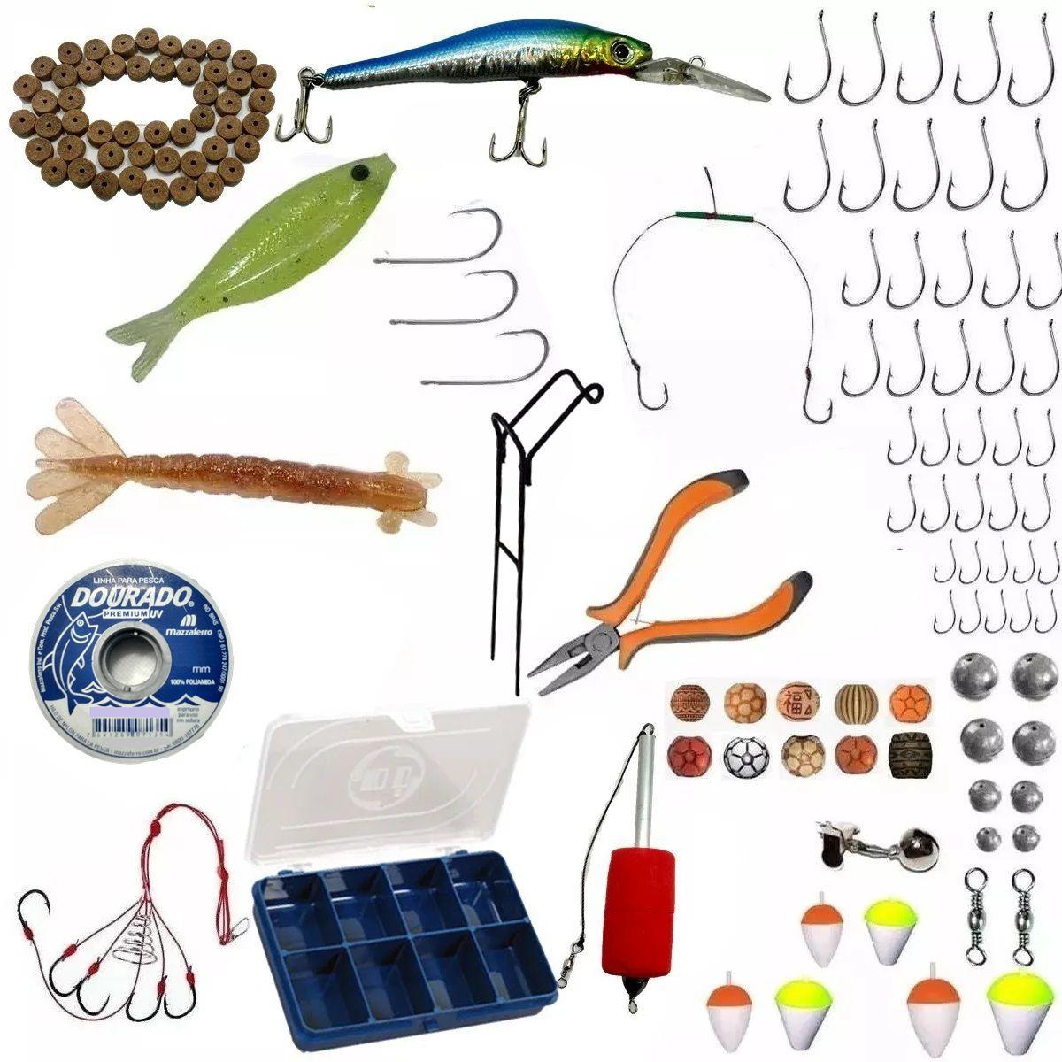 Acessórios De Pesca Completo Kit Pronto Para Varios Locais