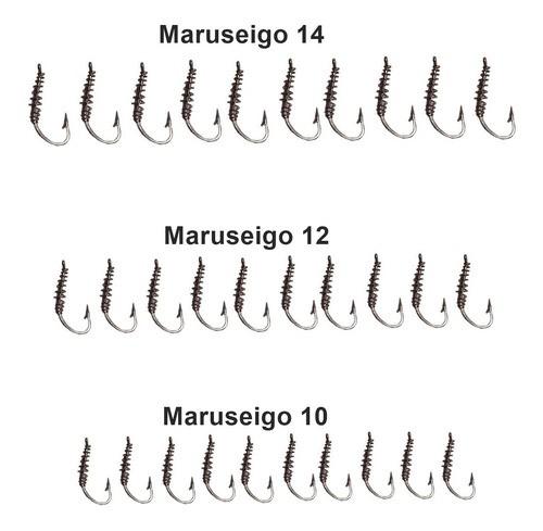 Kit 30 Anzol Maruseigo Com Mola Para Massa Não Sair