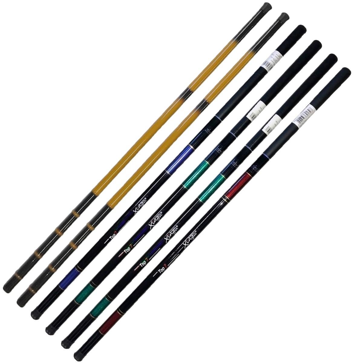 Kit 6 Varas Telescópicas 3 Tamanho Diferente +capa Enrolador
