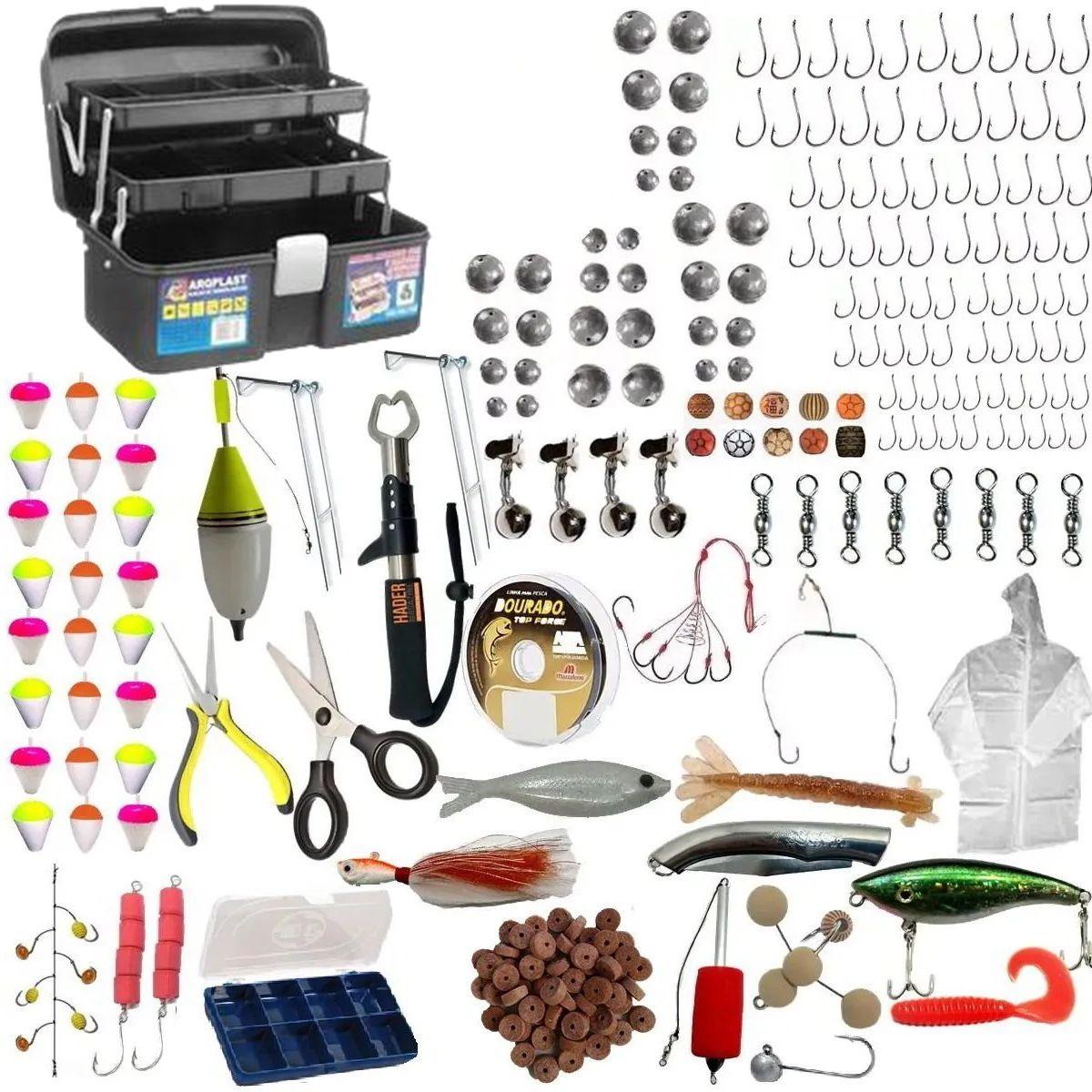 Kit Acessorios De Pesca Completo Para Varios Tipos De Peixe