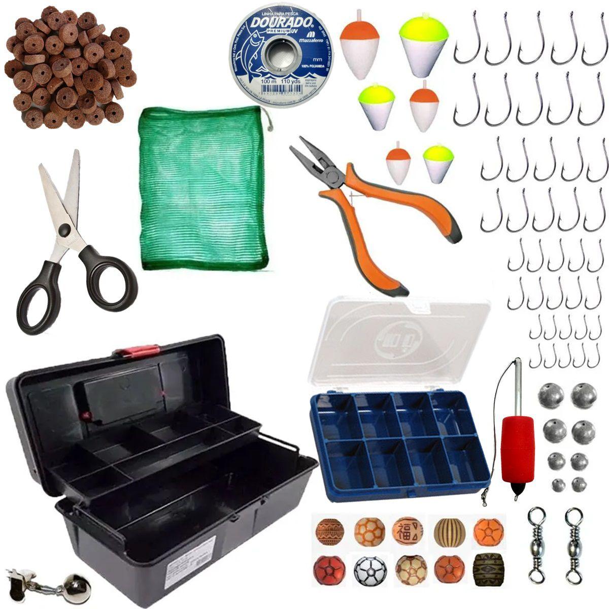 Kit de Acessórios para Pesca Pescaria Completa Caixa e Itens Barato