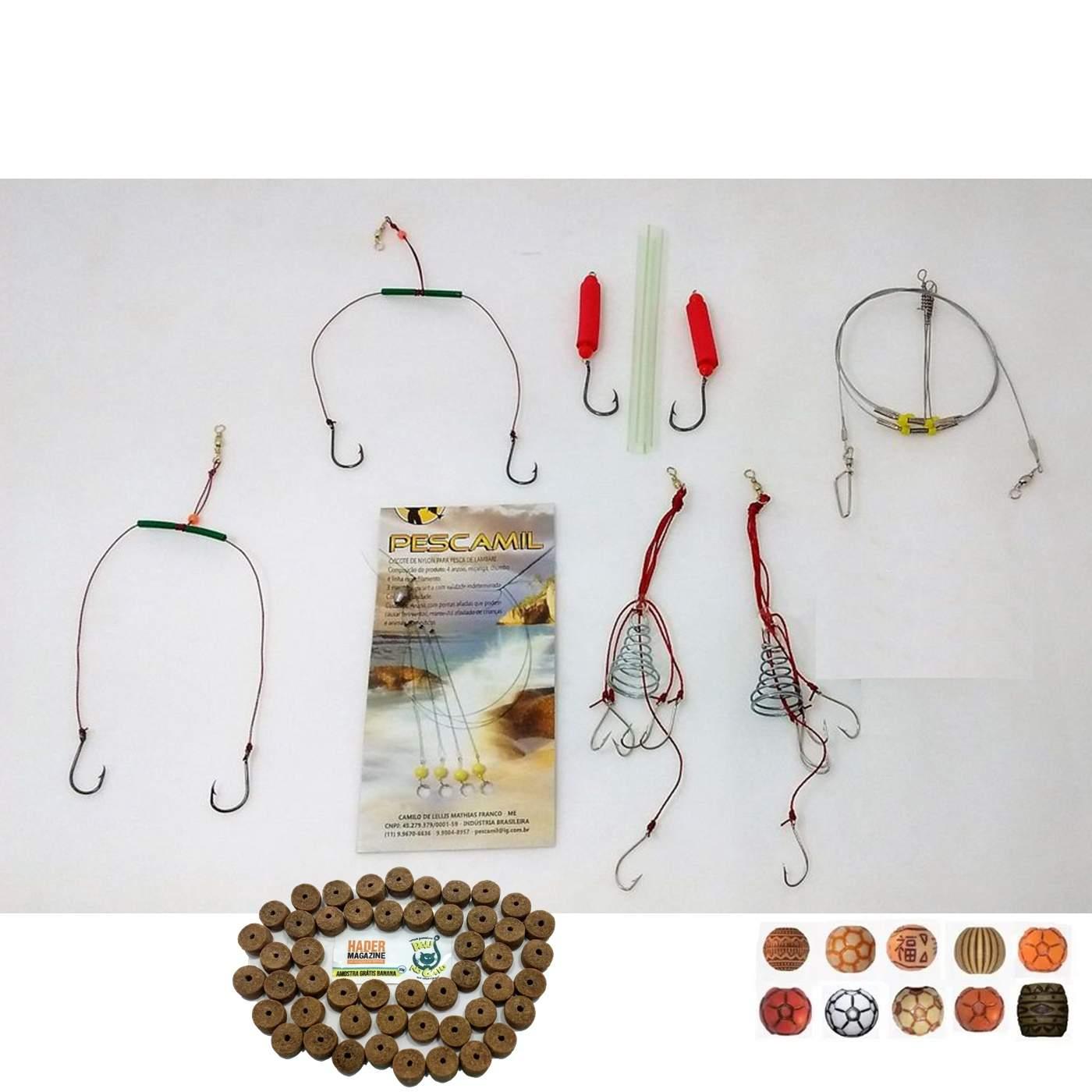 Kit De Pesca 14 Acessórios Ideal Pesqueiros Represas Rios