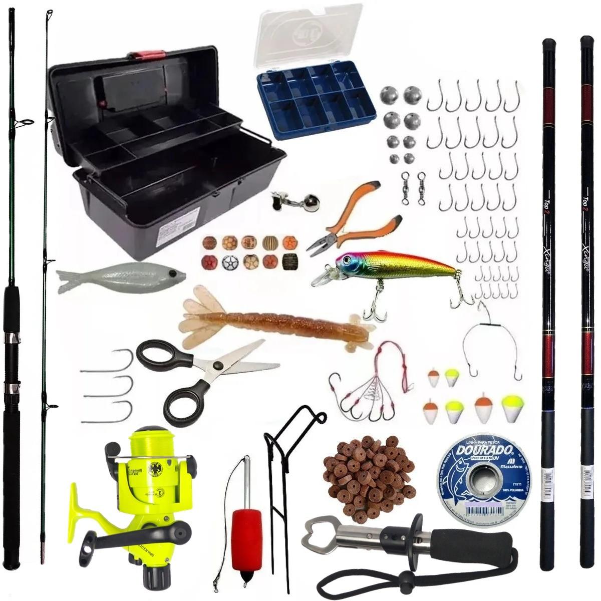 Kit De Pesca 1 Vara 1,70 1 Molinete 3 Rol 2 Telescopica E Item