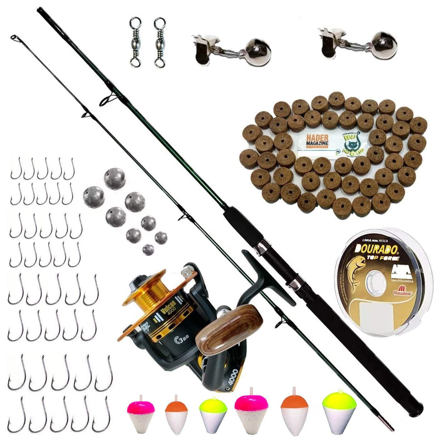 Kit De Pesca Completo Vara 1,70 Molinete 4000 E Acessórios