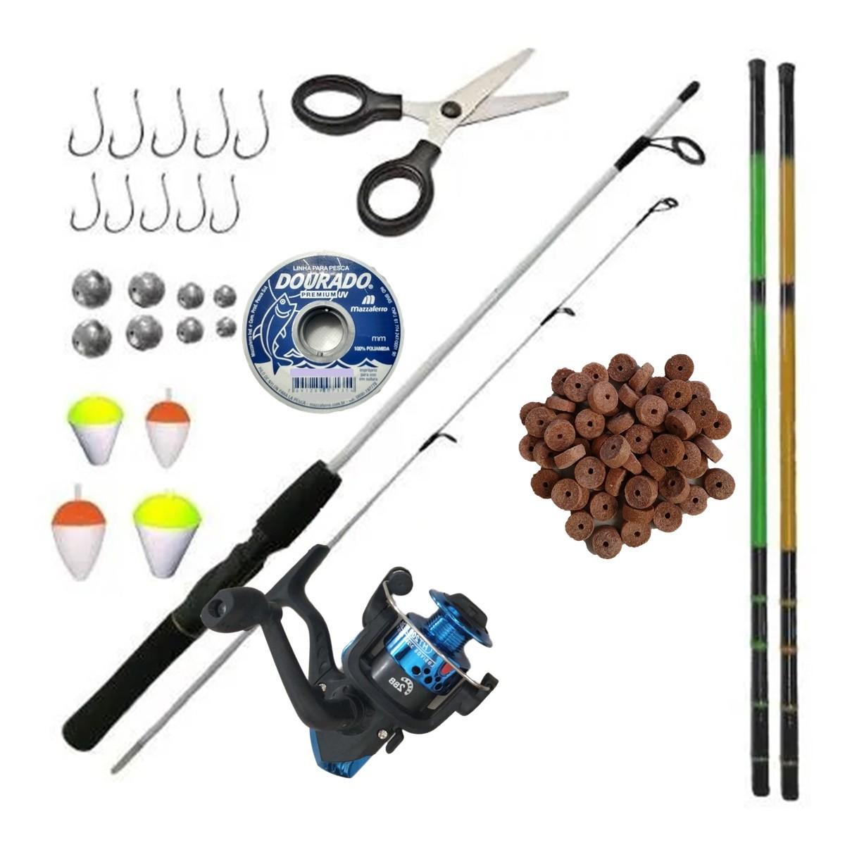 Kit De Pesca Completo Vara 6kg Molinete E Variados Itens