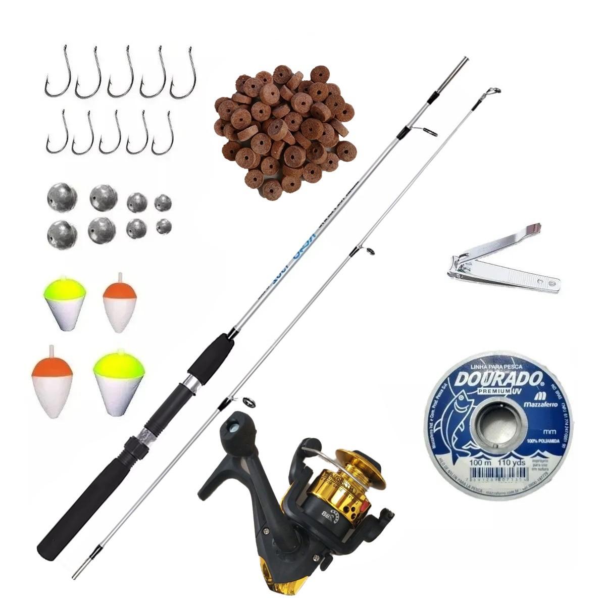 Kit De Pesca Completo Vara Molinete E Acessorios Pronto